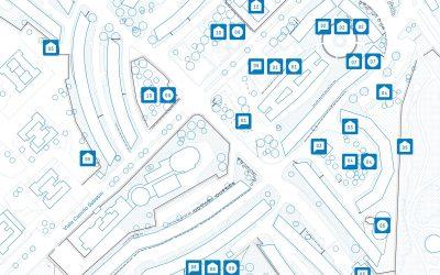 La mappa multilivello del quartiere Decima a Roma